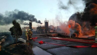 Photo of Cause of Fire at Tehran Refinery under Investigation